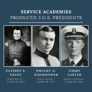 U.S Presidents from Service Academies